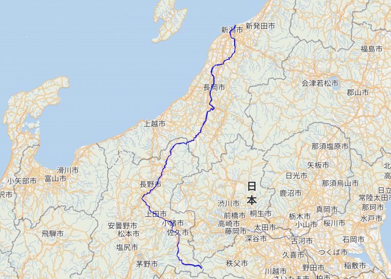 千曲川の地図