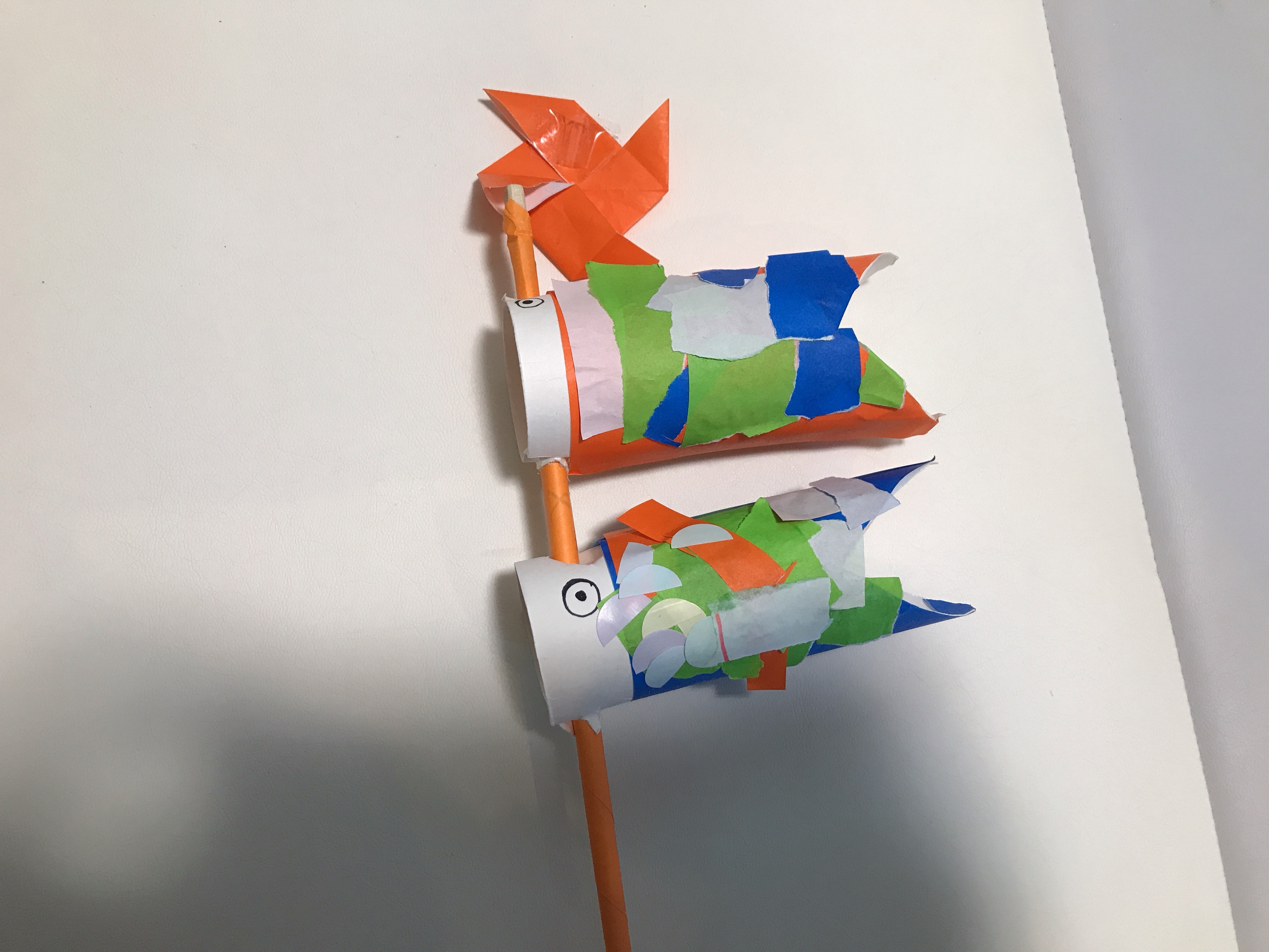 鯉のぼり 工作 トイレットペーパー